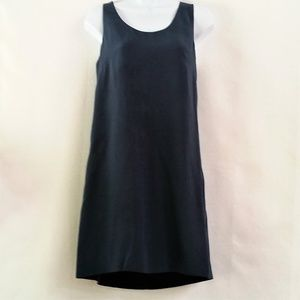 J. Crew Navy Racerback Twist Back Silk Dress 2
